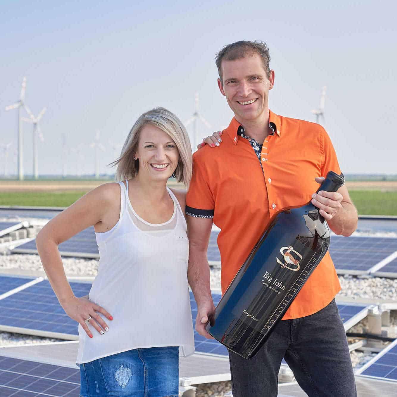 Familie Scheiblhofer Photovoltaik Solarwein Photovoltaikanlage